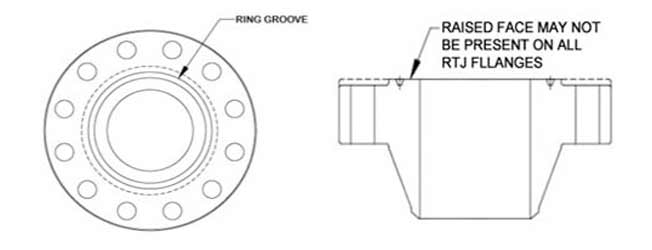 Standard Dimension of Flange RTJ Class 5000